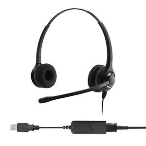 Professional Binaural Noise Cancelling USB Headset