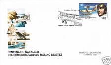 Chile 1988 FDC Comodoro Merino Aircraft Airplane
