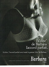 PUBLICITE ADVERTISING  1979   BARBARA  soutien gorge  FA DIESE