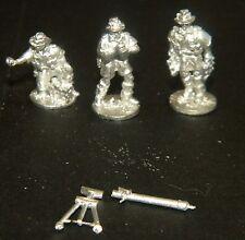 "SHQ BA7 1/76 Diecast WWII Australian 3"" Mortar and Crew (3 Figures + Mortar)"