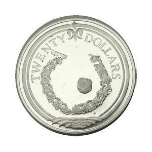 elf British Virgin Islands 20 Dollars 1985 Silver Proof  Bracelet Button