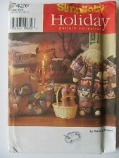 """Simplicity Holiday Sew Pattern 7426 Noah's Ark 23"""" Doll Animals & Clothing"""