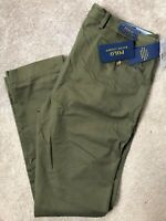 "RALPH LAUREN POLO GREEN M CLASSICS SLIM FIT CHINOS TROUSERS PANTS  33""  NEW TAGS"