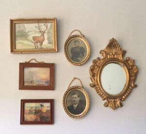 Five Dolls House Pictures and One Mirror