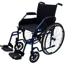 Sedia a rotelle pieghevole seduta 46 cm anziani Moretti