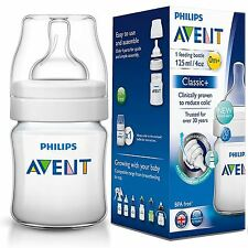 Philips AVENT Classic+ Newborn Baby Milk Feeding Bottle Anti-Colic 125ml/4oz 0m+