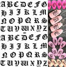 Nail Art Water Decals Transfer - Old English CAPITALS Gothic Text Font Letters