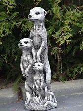 Steinfigur Nr.445 Surikat Erdmännchen 04 Familie Gross ca. 50 cm ca. 10 kg