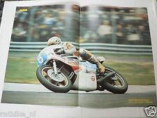 A003-POSTER TAKAZUMI KATAYAMA 350 YAMAHA GRAND PRIX NO 8 MOTO GP 1977