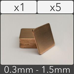 Copper Shim 20mm x 20mm Heatsink Thermal Pad GPU CPU Laptop - 0.3mm to 1.5mm