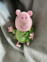 "Peppa Pig - 6"" Talking George Pig Soft Toy -Green Dinosaur Outfit With Dinosaur"