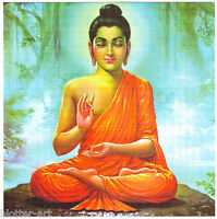 MEDITATING BUDDHA BLOTTER ART ACID HOUSE RAVE GOA TRANCE