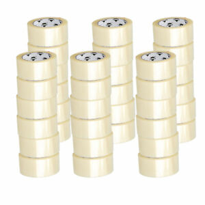 36 ROLLS - 2 INCH x 100 Yards (300 ft) Clear Carton Sealing Packing Package Tape