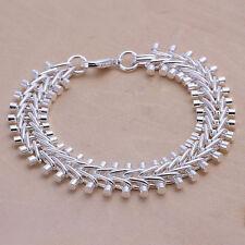 """Cool Sterling Silver Jewelry Fish Bone Men's Chain Women's Bracelet 8"""" H050"""