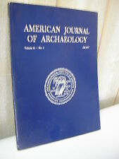 AMERICAN JOURNAL of ARCHAEOLOGY 1977 N°4