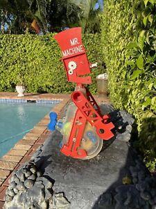 Vintage '60's Ideal Mr. Machine Windup Rolling Robot - Works Well