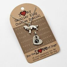 Cavalier King Charles Spaniel Necklace & Dog Charm Set