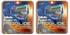 Geniune Gillette Fusion Proglide Power Razor Refill Blades, 16 Catridges NEW