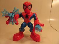 Marvel Spider Man Adventures Playskool web spinning light up eyes and web slingi