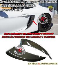 GT4-Style Side Air Dam Scoop Vents (Carbon) Fit 13-16 Porsche 981 Boxster Cayman