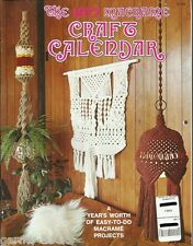 1977 Macrame Craft Calendar Vintage Pattern Book NEW Plant Hangers Easy to Do