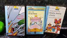 3 libros lectura infantil a partir de 7 años el rey Tunix ,Pegasiño, Amalia,...