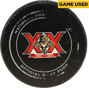 Florida Panthers 2013-14 20th Anniversary Season Whole Game-Used Puck