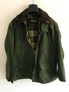 Mens Barbour Bedale wax jacket Green coat 36in size Small / Medium S/M #7