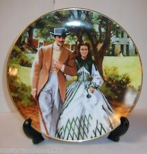 "GONE WITH THE WIND COLLECTOR'S PLATE ""HOME TO TARA"" 1989, GOOD COLOR!"