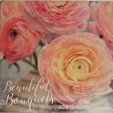 "NEW Beautiful Bouquets 12 Month 2018 Wall Calendar 12""X24"""