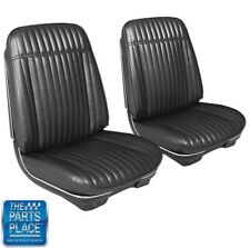 1971 - 1972 Monte Carlo Pre-Assembled Bucket Seats In Black Pair