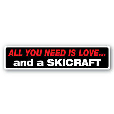 Love & a Skicraft sticker 200mm quality  inyl water & fade proof  speed boat