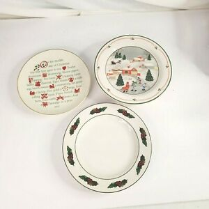 Lot of 3 Christmas Holiday Porcelain Serving Dishes
