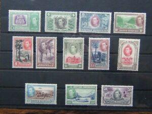 British Honduras 1938 - 47 set to $5 MM 3c 4c 5c Unused 15c Tiny tone spot