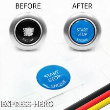 Start Stop Engine Knopf Reparatur Taste Schutz Austausch Ersatz BMW Serie Blau