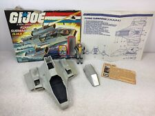 GI Joe ARAH 1984 SHARC w/ DEEP SIX Action Figure Vintage Submarine Blue Print Ca