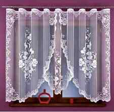 Beautiful New Ready Made Jacquard Net Curtain Luxury Flower design 350x160cm