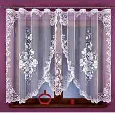 Beautiful New Ready Made Jacquard Net Curtain Luxury Flower design 330x160cm