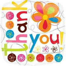 Anagram THANK YOU Square Colourful Flowers Foil Helium Balloon 18""