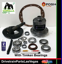 GM Chevy 8.5 10 Bolt Posi Limited Slip 3.73 Gear Set Master Gorilla Grip Timken