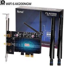 PCI WiFi Card Desktop PC PCI-E Dual Band Wireless Adapter  3000M Intel AX200NGW