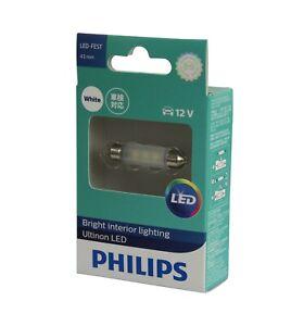 Genuine PHILIPS Ultinon White LED 6000K 43MM Festoon Bulb 12V  - Single Pack