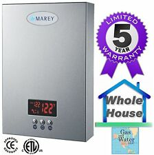 Electric Tankless Instant On-Demand Water Heater Marey ECO180 5GPM - 18 KW
