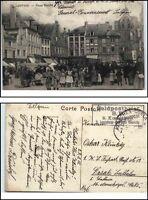 1915 Feldpost Bahnpost gelaufene AK Landsturm Chemnitz Kompagnie AK CPA LOUVAIN