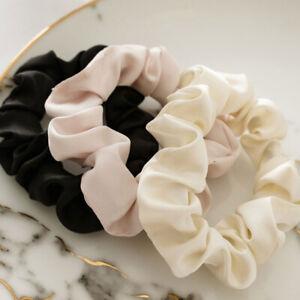 5Pcs Women Girls Satin Silk Hair Tie Elastic Scrunchies Ponytail Holder Headwear