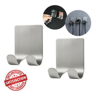Razor Holder Shaving Brush Bracket Wall Adhesive Shower Hook Stainless Steel G7