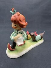 Goebel Charlot Byj Redheads Figurine Putting on the Dog Girl Daschunds Tm 4