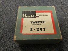 Vintage Herald Electronics Single Tweeter S-297 Japan 8 Ohm 15 Watt True NOS!!