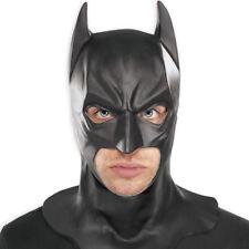 Official Batman Dark Knight Rubber Full Head Mask Adult Halloween Fancy Dress