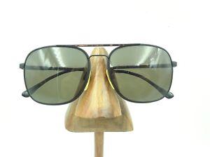 Vintage Marcolin 6153 468 Black Tortoise Aviator Pilot Sunglasses FRAMES ONLY